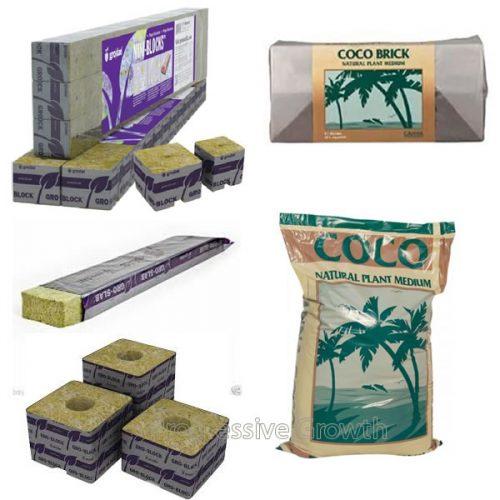 Rockwool & Coco Grow mediums